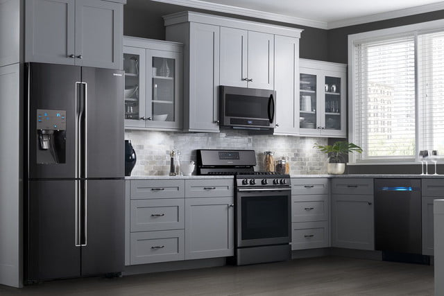 black stainless steel appliances trend samsung
