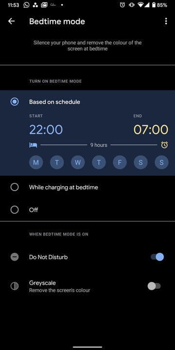 how to use android sleep mode set 5