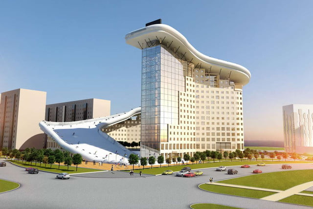 house slalom is an apartment building with a ski slope concept shokhan mataibekov 006