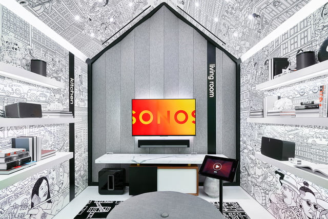 sonos retail store nyc sound listening room 6  mark stamaty wallpaper