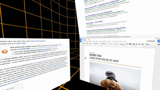 space virtual reality office  5 document editing