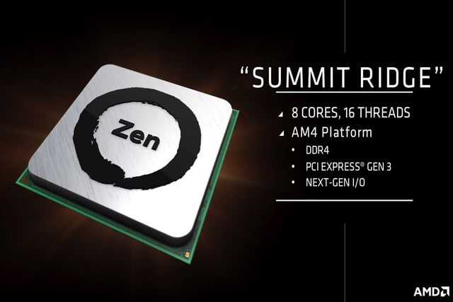 amd zen summit ridge details idf 2016 processor