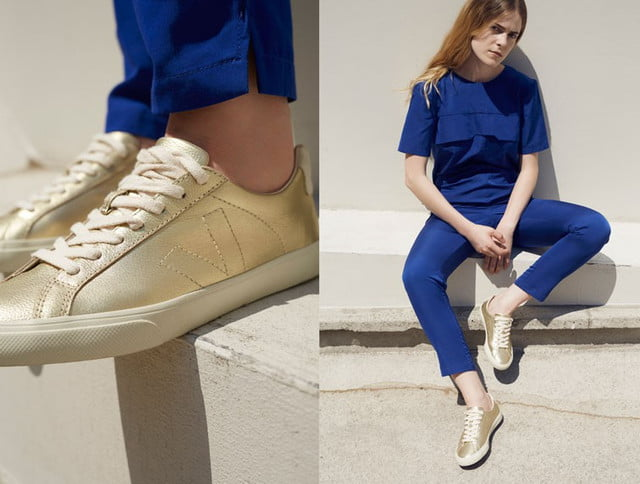 Veja sustainable sneakers - women's gold