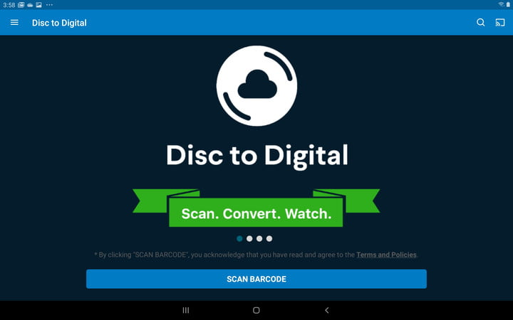 Vudu Android Disc to Digital