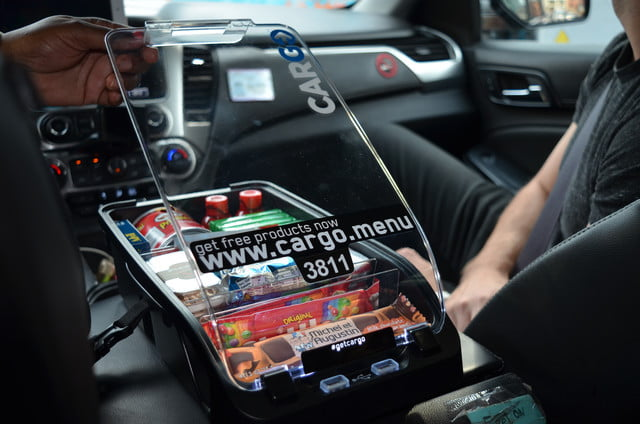 Car Dashboard Signs >> In-car service Cargo provides you with snacks you didn't ...