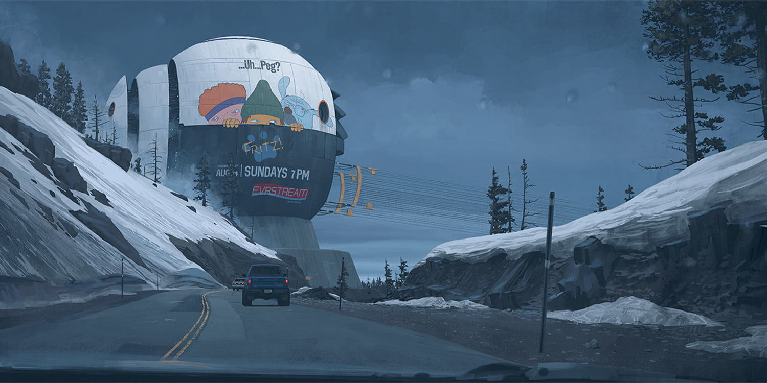 Behind the unsettling sci-fi landscapes of Simon Stalenhag's 'Electric State '