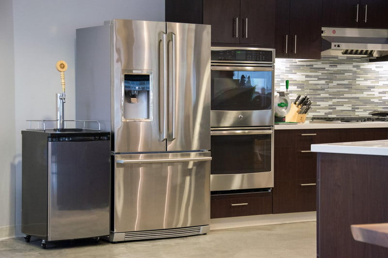 Counter Depth French Door Refrigerator With. What Is The Smallest Side By  Refrigerator Made