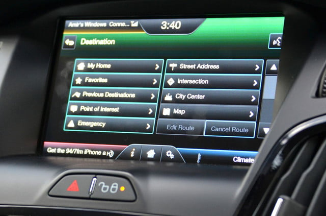 ford focus electric navigations