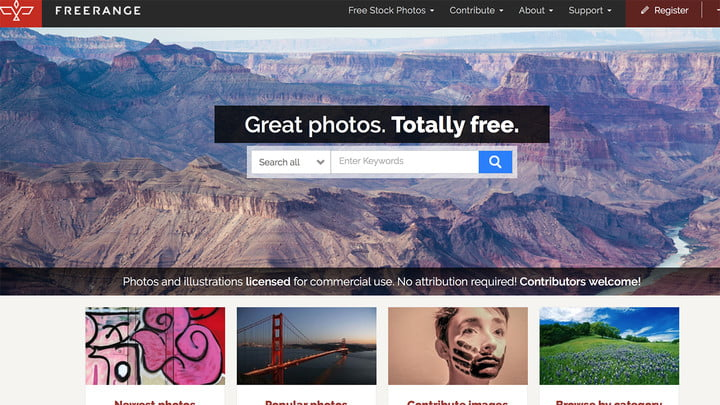where to download public domain images freerange