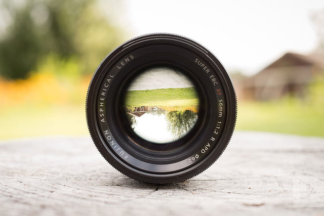 Fujifilm XF56mm f1.2R APD review lens front