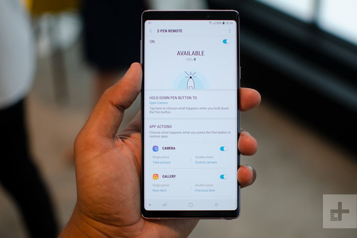 Everything You Can Do With The Galaxy Note 9 S S Pen Digital Trends
