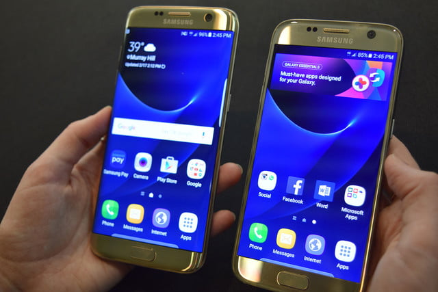 samsung galaxy s7 news and edge together fronts