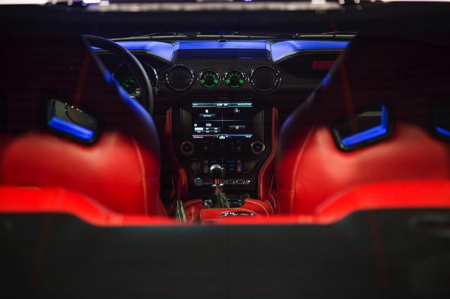 galpin auto sports unveils first production rocket mustang galpinrocket interior 05
