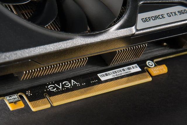 Nvidia GTX 960 video card PCI tab