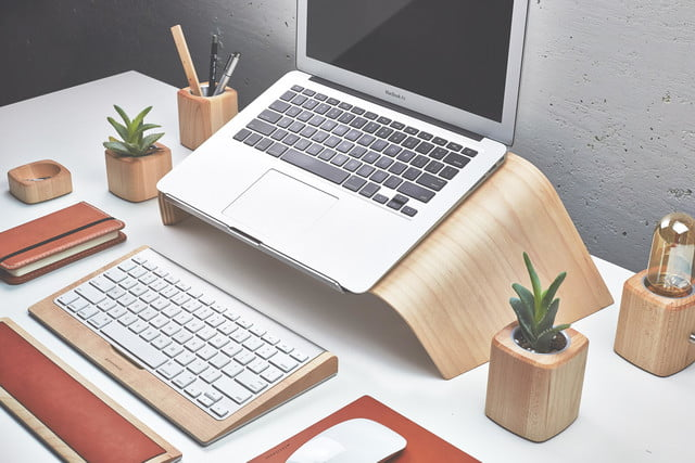 Lovely Grovemade Laptop Stand Maple Entire Collection Right Side View Amazing Ideas