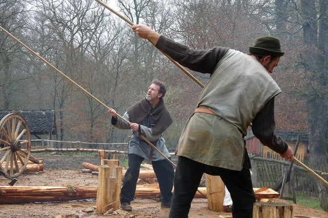 the guedelon castle is being built with 13th century techniques gu  delon 0063