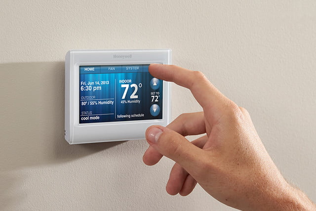 honeywell smart color thermostat press