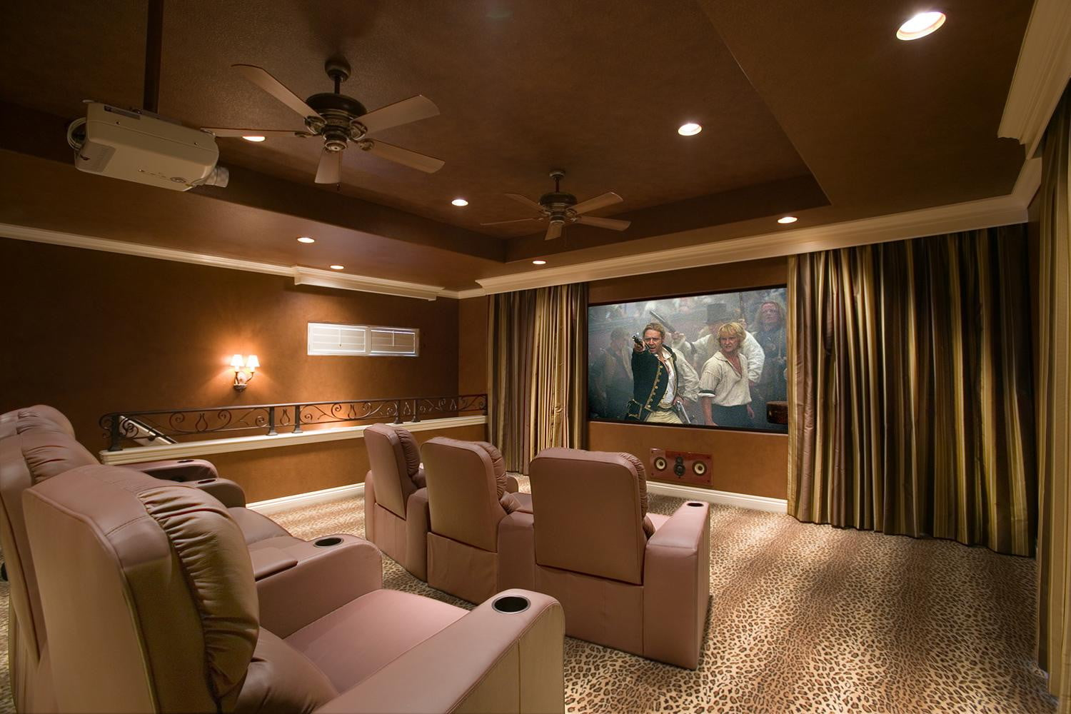 Home theater projection screen paint