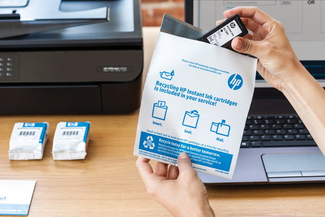 hp puts spotlight on instant ink refill program with new inkjet printers recycling