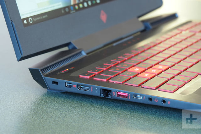 HP Omen 15 review side ports 4