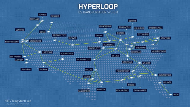hyperloop transportation technologies bibop gresta coo hyperlooptranportation map usa v4 copyright  c 2014 omegabyte3d