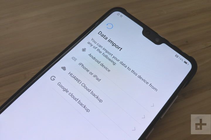 Switching iPhone to Android options on Huawei P20 Pro