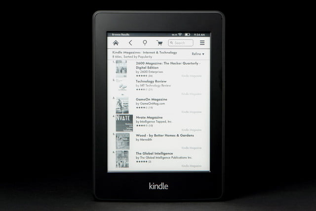 Kindle Paper White front magazines