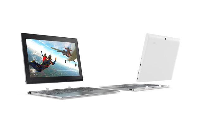 lenovo mwc refresh yoga miix flex tab4 320 windows detachable in platinum silver and snow white