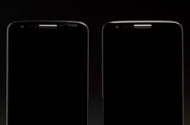 LG G2 Phone old model comparison top front