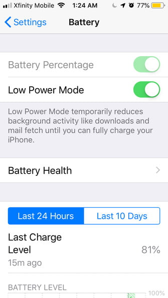 how to save battery life on your smartphone low power mode