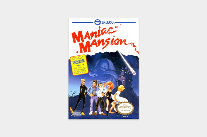 best nes games ever maniac mansion cover