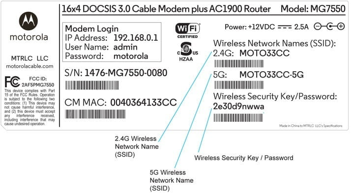 Router Information Label