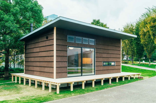 the muji hut is a micro home made for japan of cork 01