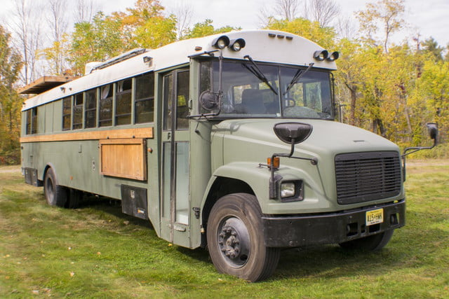 bus converted to solar powered tiny home on wheels nn 0247
