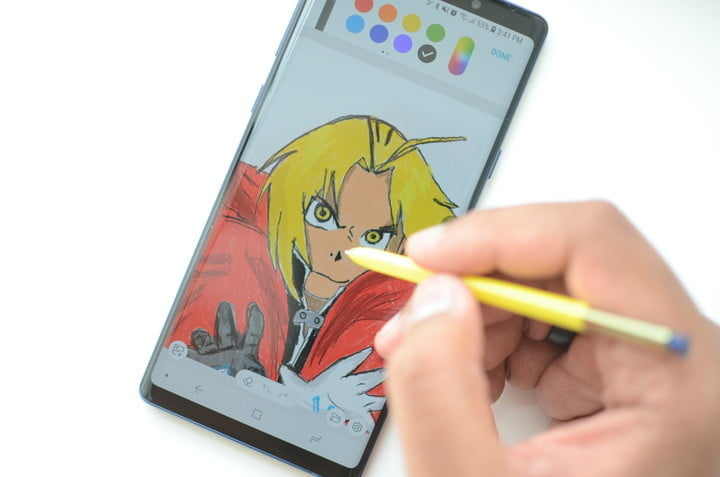 all the s pen features on galaxy note 9 drawing