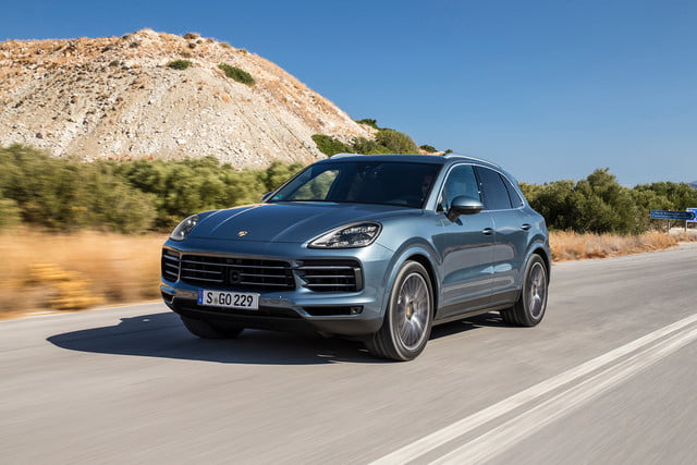 porsche cayenne s review front angle