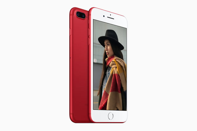 apple iphone red product backfront