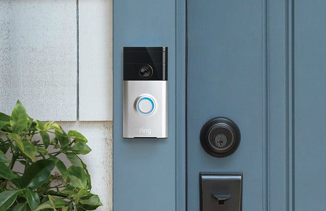 ring wired security products color night vision wi fi enabled video doorbell