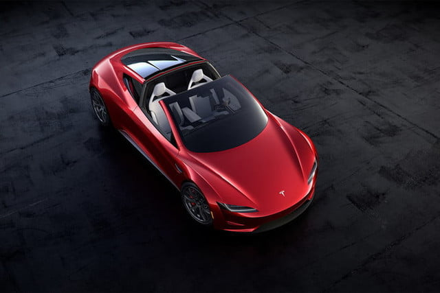 tesla roadster pictures targa open