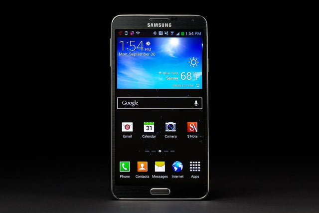 samsung galaxy note 3 front screen