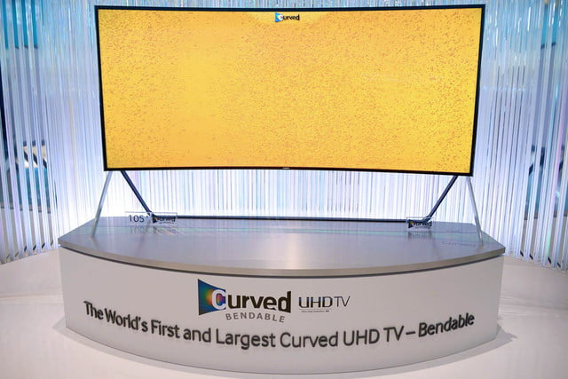 samsungs massive bending 4k tv flexes flat curved right front face samsung 18
