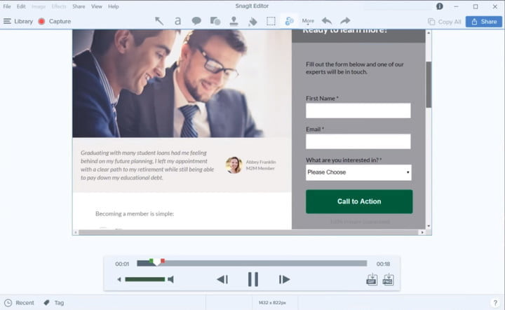 how to record your computer screen snagit01