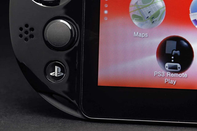 Sony PlayStation Vita Slim review bottom left buttons macro