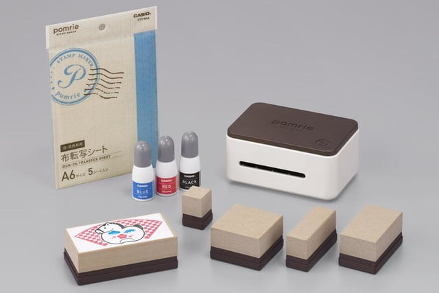 casio brings portable stamp maker to the u s for home crafts market stc w10 set 01