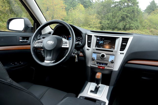 2013 subaru outback review interior drivers from back