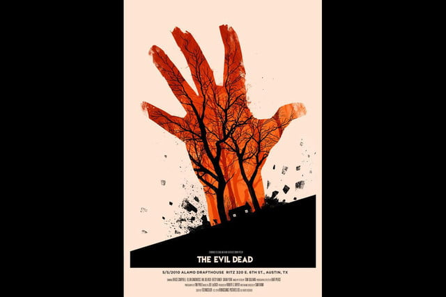 best stranger things style movie posters the evil dead by olly moss