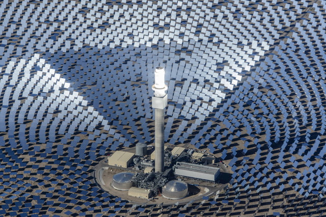 peek inside nevada solar plant 247 power molten salt the project created 4 300 direct  indirect and induced jobs with over 1