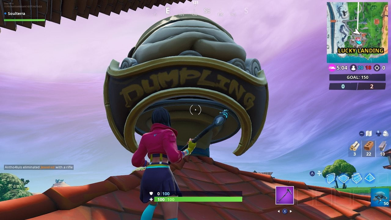 Fortnite Week 4 Challenges: Dance Inside a Holographic Tomato Head