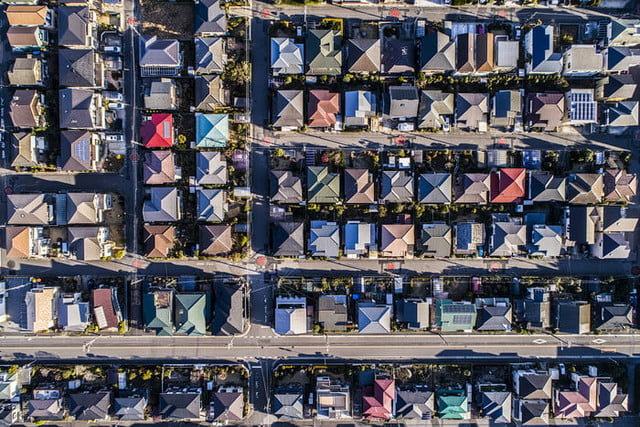 best drone photos viewpoint of in residential area