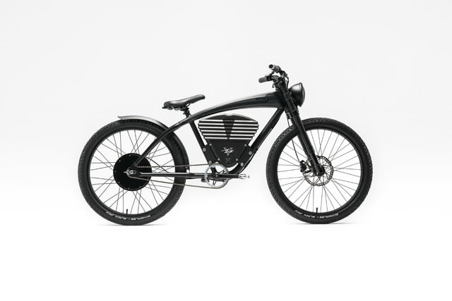 vintage electric scrambler s ebike black full horizontal